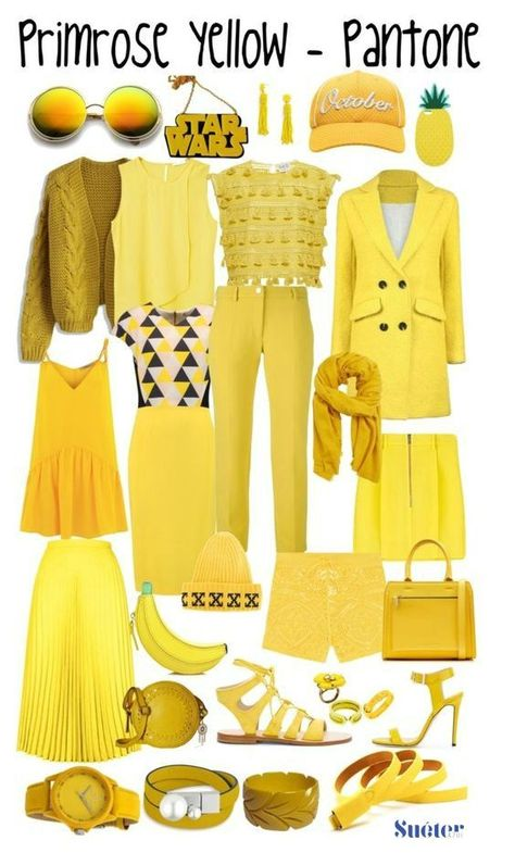PANTONE 13-755 Primrose yellow #FashionTrendsAnalysis