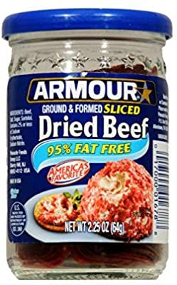 Amazon Com Armour Ground Formed Sliced Dried Beef 2 25 Oz Pack Of 3 Gourmet Recipes Creamed Beef Beef
