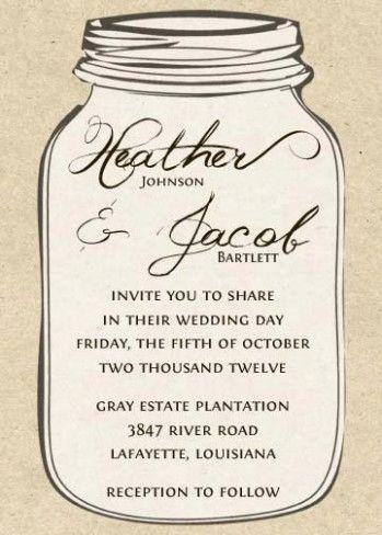 Wedding Invitations Free Mason Jars Mason Jar Invitations Template Mason Jar Invitations Mason Jar Wedding Invitations Template