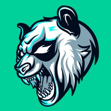 Wild Panda Esports Logo For Mascot And Twitch Free Logo Design Template Aggressive Angry Angry Logo Png And Vector With Transparent Background For Free Downl Binatang Logo Keren Desain Logo
