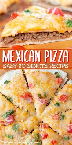 Family Size Mexican Pizza Warm flour tortillas, perfectly seasoned ground beef, and melty cheese combine to create the perfect party appetizer for Cinco de Mayo or anytime! Our Grande Mexican Pizza is sized for sharing — it's a guaranteed crowd-pleaser! Low Carb Brasil, Fingerfood Party, Quick Meals, Dinners To Make, Fast Dinners, Love Food, The Best, Food And Drink, Yummy Food