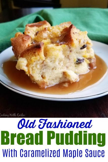 A Classic Bread Pudding Spiced With Cinnamon And Dotted With