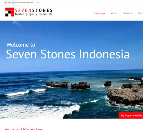Seven Stones Indonesia is a real estate company based in Bali Indonesia. They asked us to supply them with a website that showed off their business. Visit their website at: www.sevenstonesindonesia.com