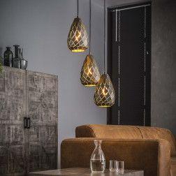 Hanglamp Heiner 3 Lamps X O30cm Hanglamp Industriele Hanglampen Lampen