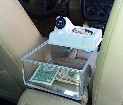 Rideshare Uber Tip Box With White Slide Top Usb Charger And Candy Dish Lyft Driver Uber Car Lyft Ideas