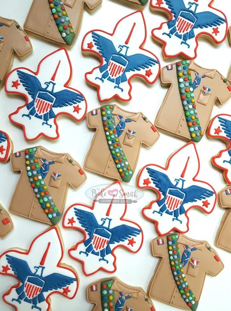 Eagle scout cookies. Decorated sugar cookies.