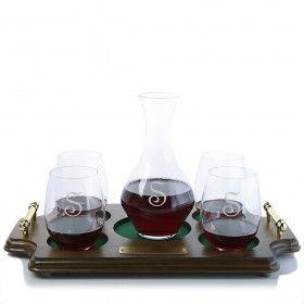 c52f36ff9f2 Riedel Cabernet Decanter & Stemless Glasses Wood Tray Set | Classic Wood  Tray Liquor/Wine Presentation | Wine decanter, Decanter, Whiskey decanter