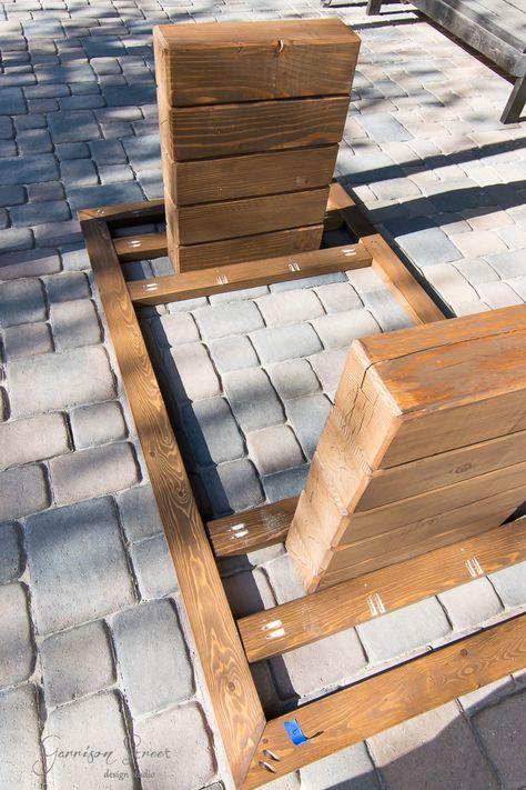 DIY Outdoor Dining Table - Garrison Street Design Studio