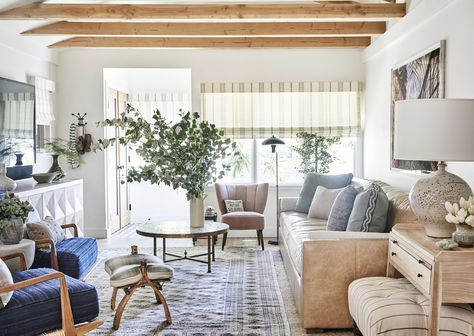 Cozy Living Room with Exposed Beams