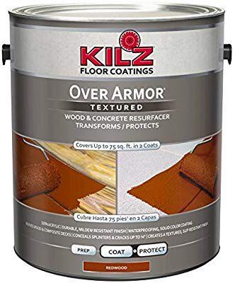 Kilz Over Armor Textured Wood Concrete Coating 1 Gallon Redwood Floor Paint Colors Porch And Floor Enamel Painted Concrete Floors