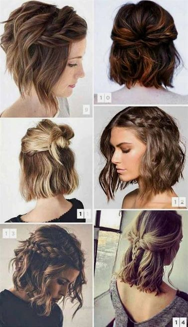 How To Style Short Hair With Pigtails And Half Doses How To Style Short Hair Doses Pigtails Sho Braids For Short Hair Hair Styles Thick Hair Styles