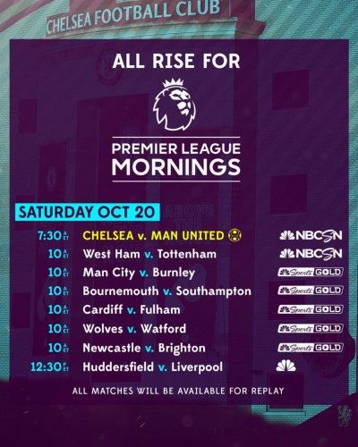 Epl Commentator Assignments On Nbc Sports Gameweek 9 Jose Mourinho