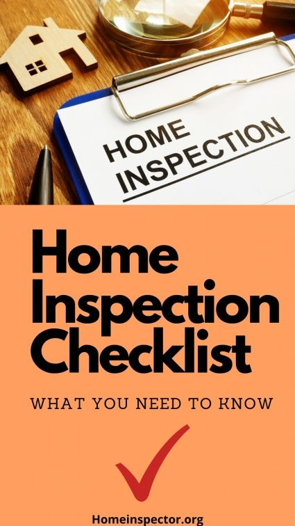 Home Inspection Checklist Home Inspection Real Estate Tips Inspection Checklist