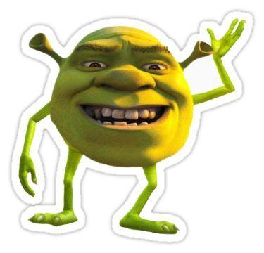 Shrek With A Twist Sticker By Chealey26 Meme Stickers