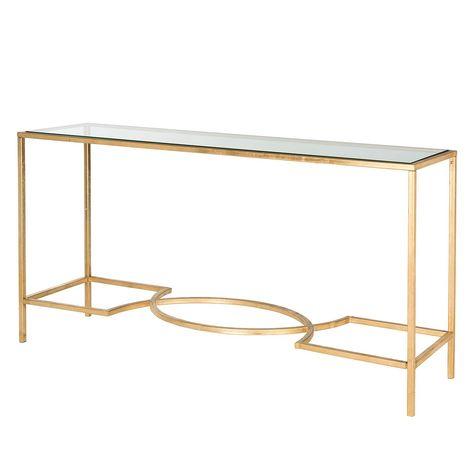 Konsolentisch Inga   Eisen / Glas   Gold, Safavieh Jetzt Bestellen Unter:  Https://moebel.ladendirekt.de/wohnzimmer/tische/konsolentische/?uidu003d08de4u2026