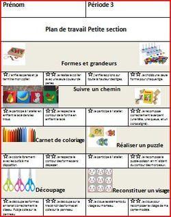 Plan De Travail Ps Programme Maternelle Pedagogie Et Journal De