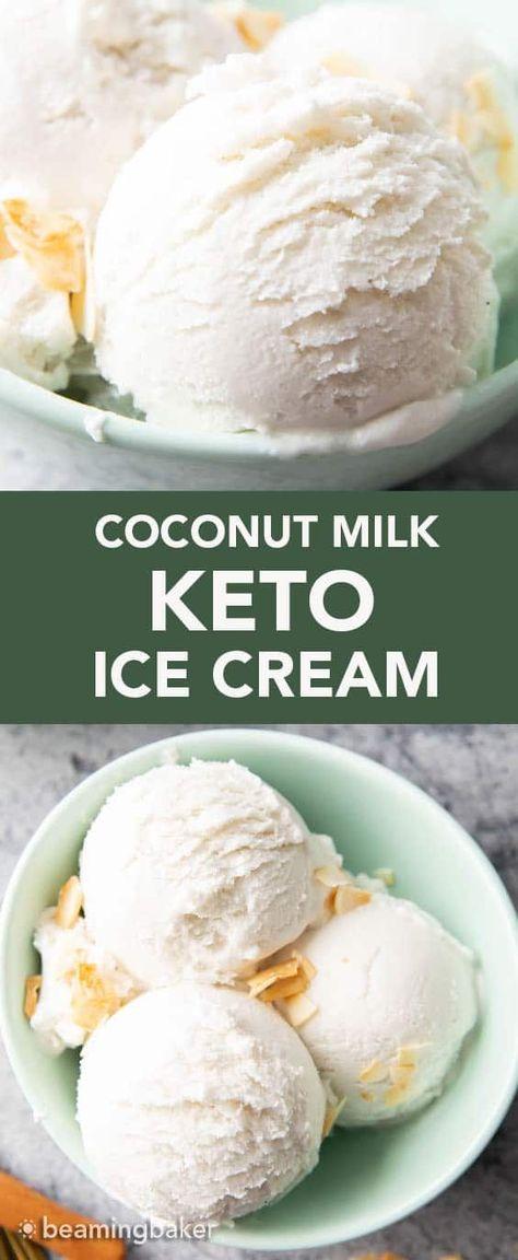 Protein Ice Cream, Low Carb Ice Cream, Coconut Vegan Ice Cream, Coconut Milk Icecream, Almond Butter, Sugar Free Ice Cream, Peanut Butter, Ice Milk, Almond Milk