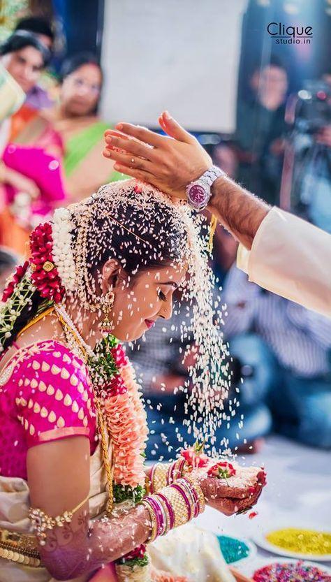 South Indian Bride Temple Jewelry Silk Kanchipuram Sari Braid