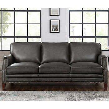 Peachy Edgewood Top Grain Leather Sofa Leather Sofa Sofa Furniture Inzonedesignstudio Interior Chair Design Inzonedesignstudiocom