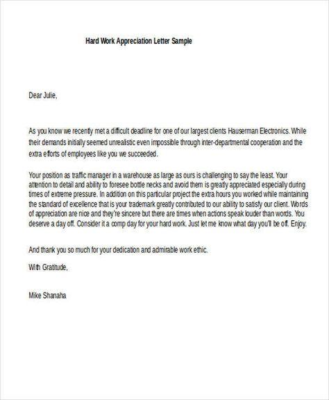Appreciation Letters Doc Pdf  Home Design Idea