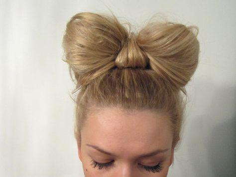 Hair Bun Bow Minnie Mouse For 2019 In 2020 Heart Hair Pink Hair Bows Bow Hairstyle