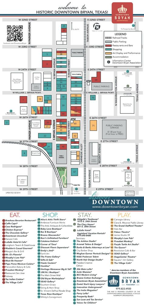Historic Downtown Bryan Map Downtown Texas Travel Best Coffee Shop