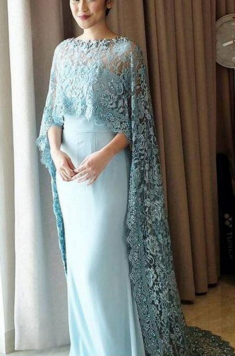 a2e21e2bd572 Elegant Evening Dresses,Satin With Lace Evening Dresses, Blue Evening  Dresses