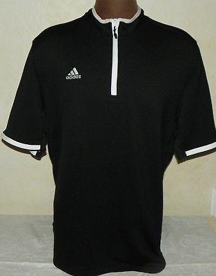 Adidas Climalite Black Pullover Shirt 1 4 Zip Size 2XL White