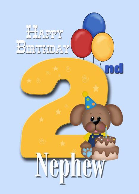 Nephew 2nd Birthday Puppy Card Ad Spon Birthday Nephew Card Puppy Happy Birthday Cards 2nd Birthday Happy 2nd Birthday