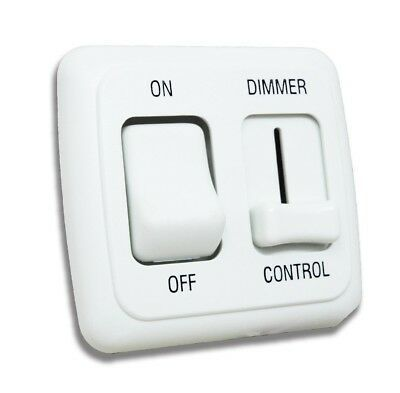 Led Dimmer Switch 12 Volt On Off Light Rv Motor Home Camper Travel Trailer White In 2020 Led Dimmer Switch Led Dimmer Dimmer Switch