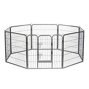 Dibea Fg00540 Cage Run Playpen For Dogs And Small Animals 8 Panels Height 60 Cm Dog Supplies Online In 2020 Dog Playpen Pet Playpens Metal Dog Kennel