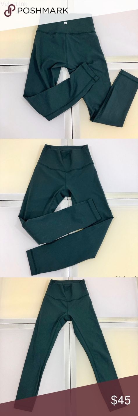 b0d8caf23cfd6 NWOT Lululemon High Rise Legging Align Pant Deep Forest Green Full Length  28