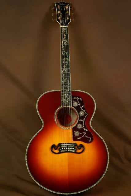 Gibson Koa J 200 Custom Acoustic Guitar For Sale Online Ebay Custom Acoustic Guitars Acoustic Guitar For Sale Guitars For Sale