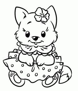 Kedi Boyama Sayfasi Cat Coloring Pages Free Printable Puppy