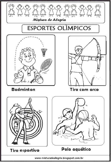 Esportes Olimpicos Para Colorir Olimpiada 2016 Em 2020 Com