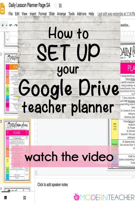 Google Drive Teacher Planner