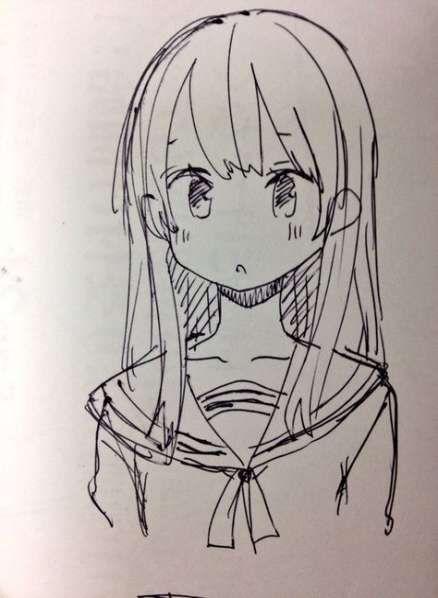 Anime Art Simple Drawing Anime Art In 2020 Anime Drawings Sketches Anime Sketch Simple Anime