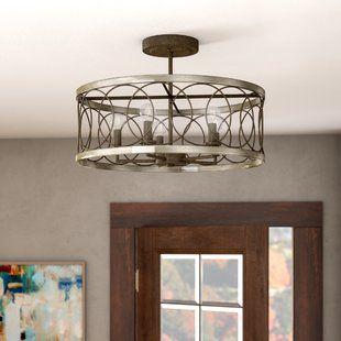 Flush Mounts Joss Main Semi Flush Ceiling Lights Dining Room Light Fixtures Drum Chandelier