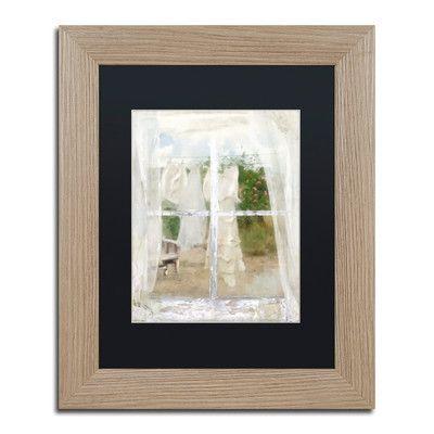 "Trademark Art 'Summer Me IV' Framed Painting Print Size: 14"" H x 11"" W x 0.5"" D, Mat Color: Black"