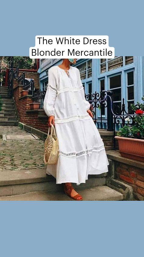 The White Dress Blonder Mercantile