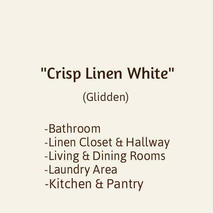 5 Gal Hdgwn43 Crisp Linen White Eggshell Interior Paint Glidden Home Depot 70 5 Gal Job Will Take At Leas Interior Paint Interior Interior Design Tips