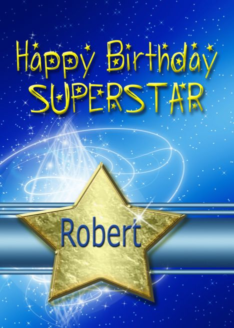 Birthday Star Card For Robert Card Ad Ad Star Birthday