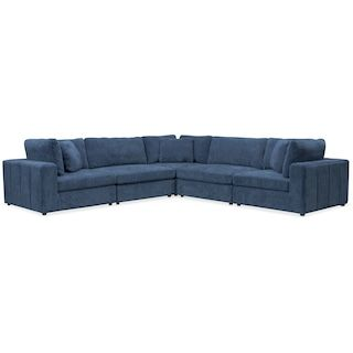 chill 5 piece sectional sapphire
