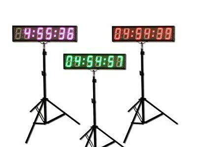 Eyou 5 6 Digits 7 Colors Led Countdown Clock Race Timing For Running Events Rgb 695638280261 Ebay In 2020 Led Color Countdown Clock Running Events