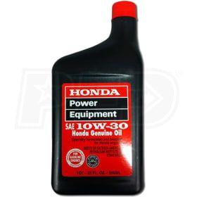 Honda 08207 10w30 10w30 4 Cycle Engine Oil 1 Quart Honda Oil Oils Camping Generator