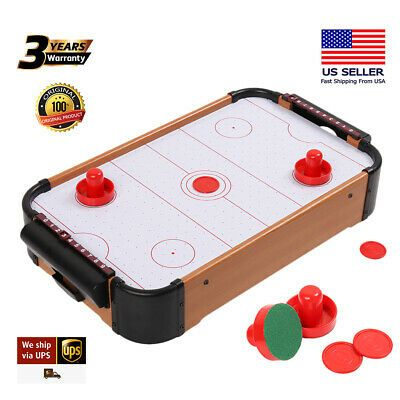 Advertisement Ebay 20 Mini Air Powered Hockey Table Table Top Game Fun Table W Scorer Kids Toys In 2020 Cool Tables Top Game Air Hockey