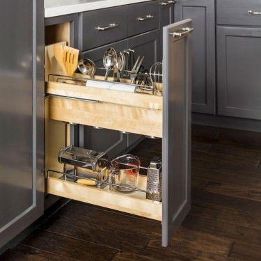 Pull Out Utensil Storage Organizer Utensil Storage Base Cabinets Kitchen Pullout