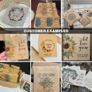 Wedding Seed Packets Sunflower Seed Packets Seed Packet image 5
