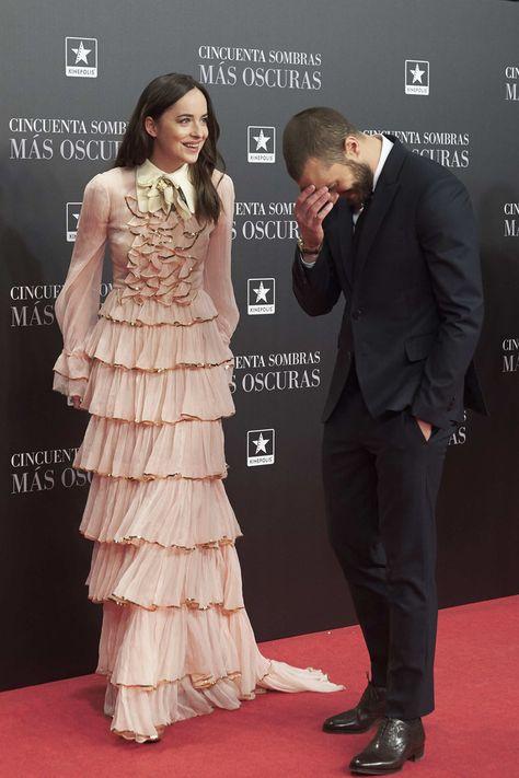 Dakota Johnson Photos Photos - Actress Dakota Johnson and actor Jamie Dornan attend 'Fifty Shades Darker' (Cincuenta Sombras Mas Oscuras) premiere at the Kinepolis cinema on February 2017 in Madrid, Spain.