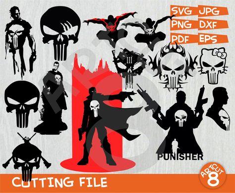 Punisher svg Clipart Superheroes svg Punisher silhouette   Etsy